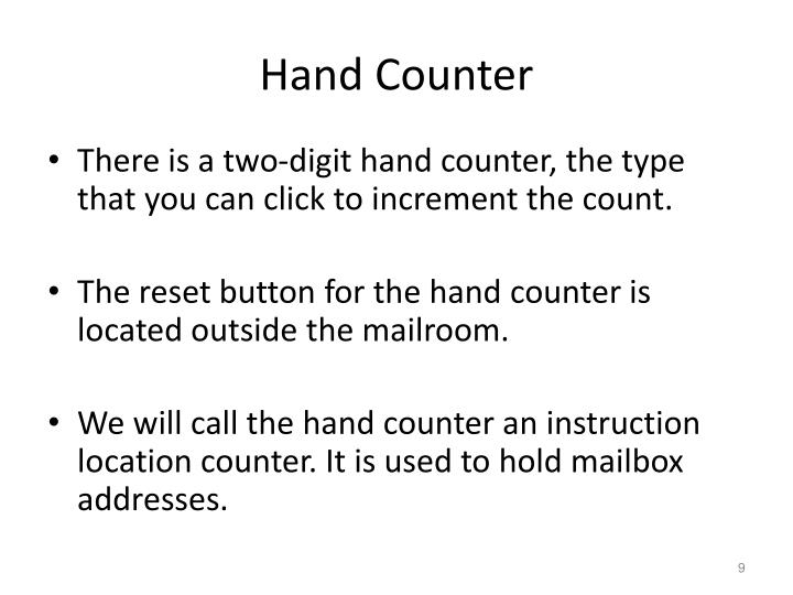 Hand Counter