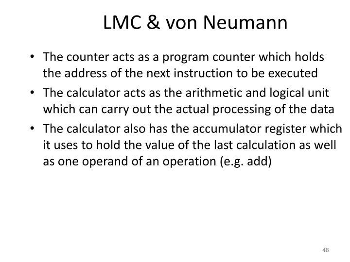 LMC & von Neumann