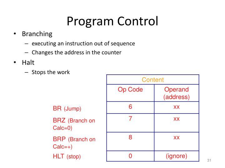 Program Control