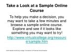 take a look at a sample online course