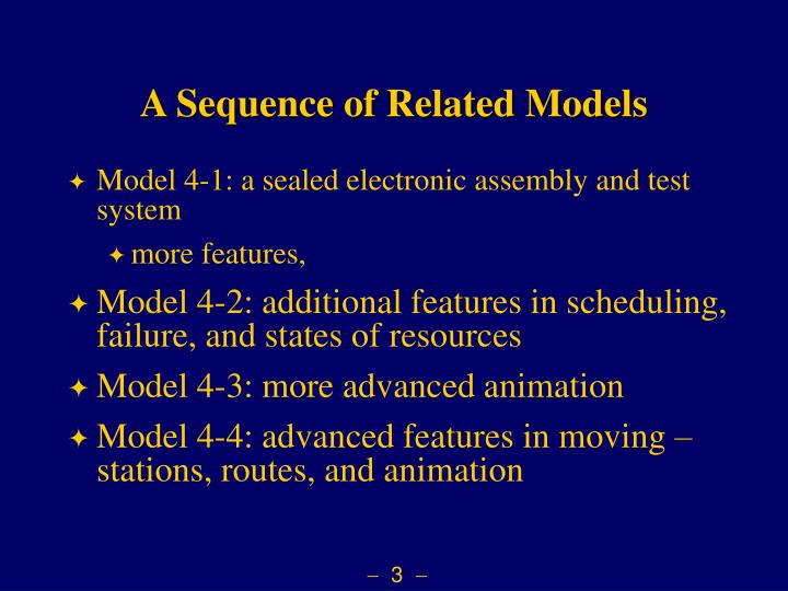A Sequence of Related Models