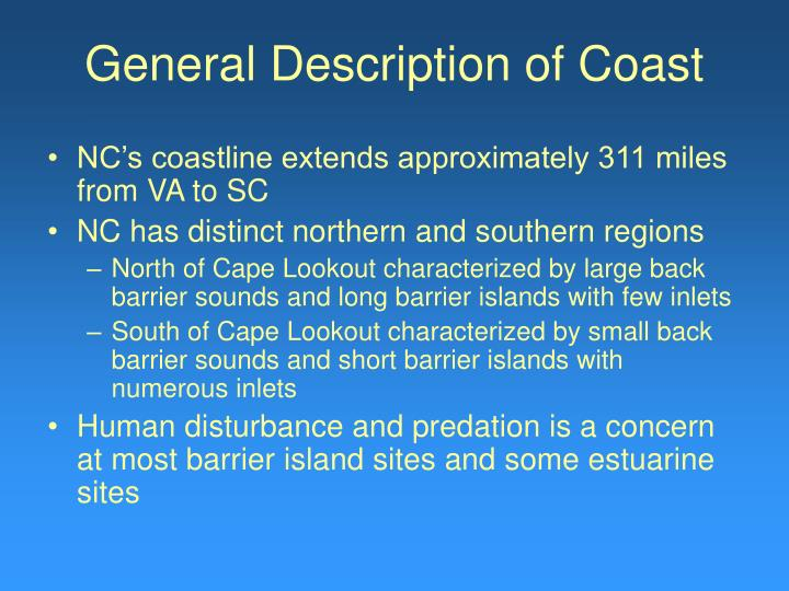 General Description of Coast