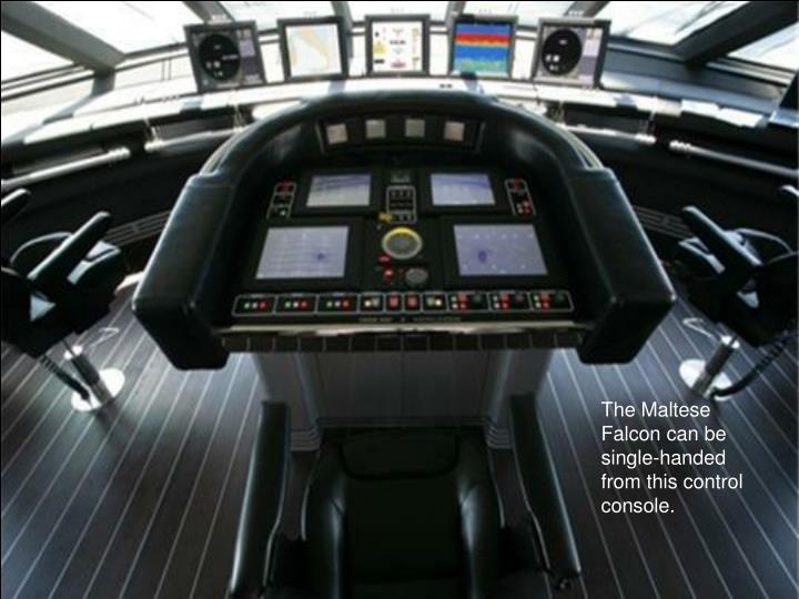 The Maltese  Falcon can be single-handed from this control console.