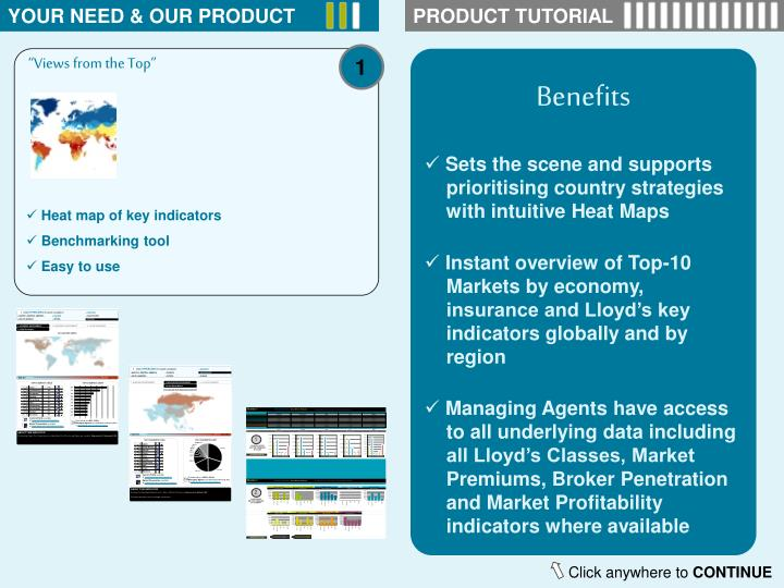 YOUR NEED & OUR PRODUCT