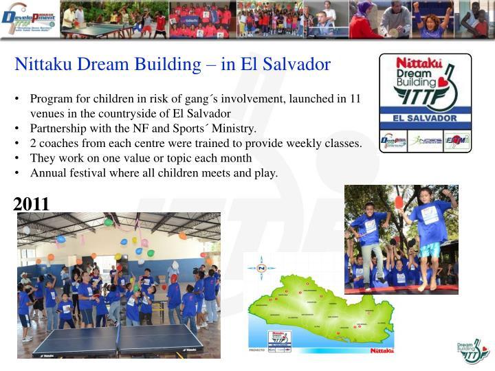 Nittaku Dream Building – in El Salvador