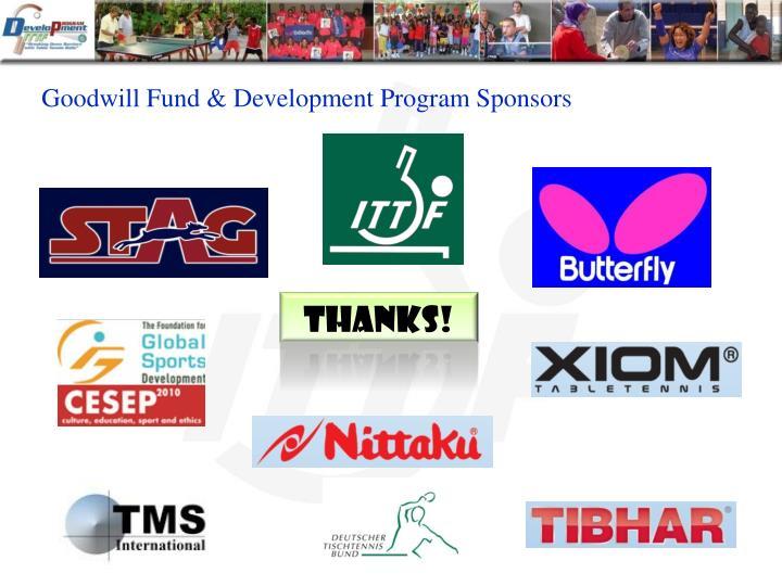 Goodwill Fund & Development Program Sponsors