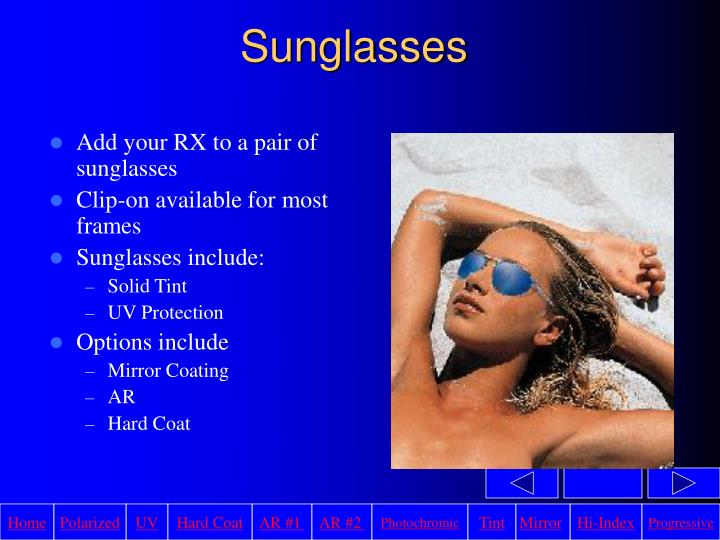 Add your RX to a pair of sunglasses