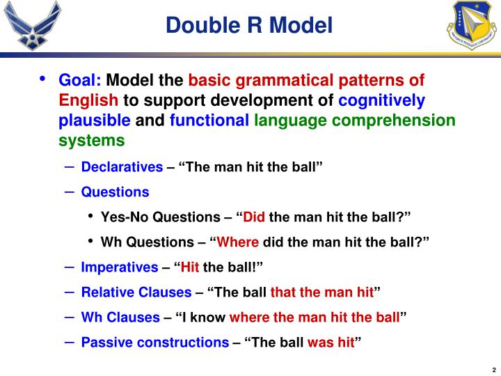 Double R Model