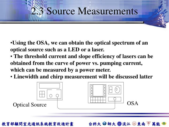 2.3 Source Measurements