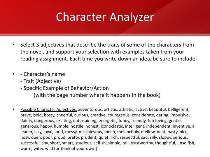Character Analyzer