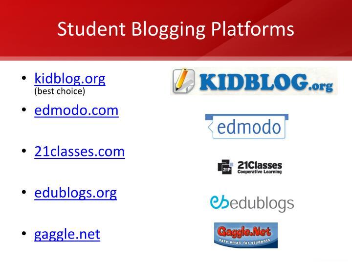 Student Blogging Platforms