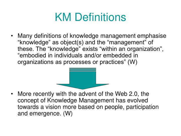KM Definitions