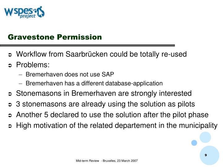 Gravestone Permission