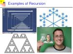 examples of recursion