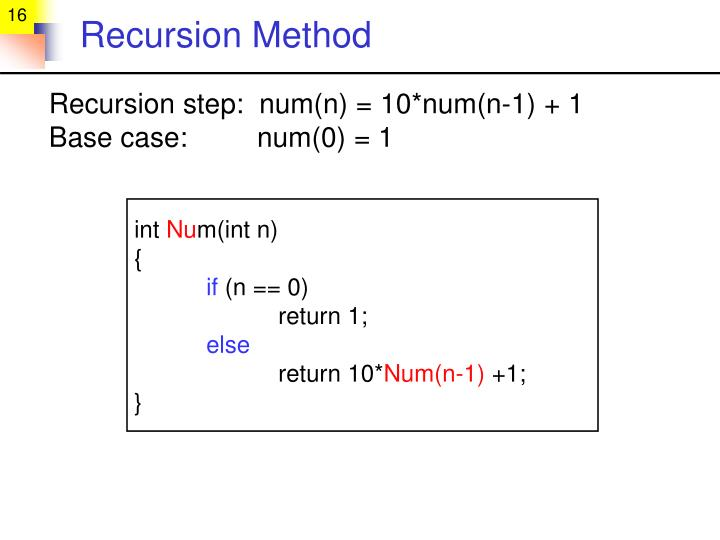 Recursion Method