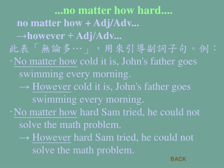 ...no matter how hard....