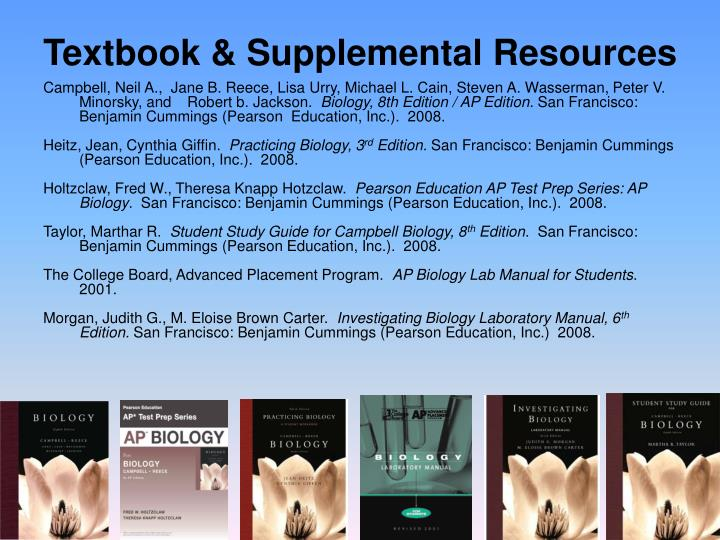 Textbook & Supplemental Resources