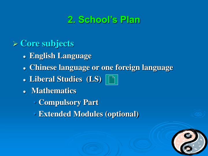 2. School's Plan
