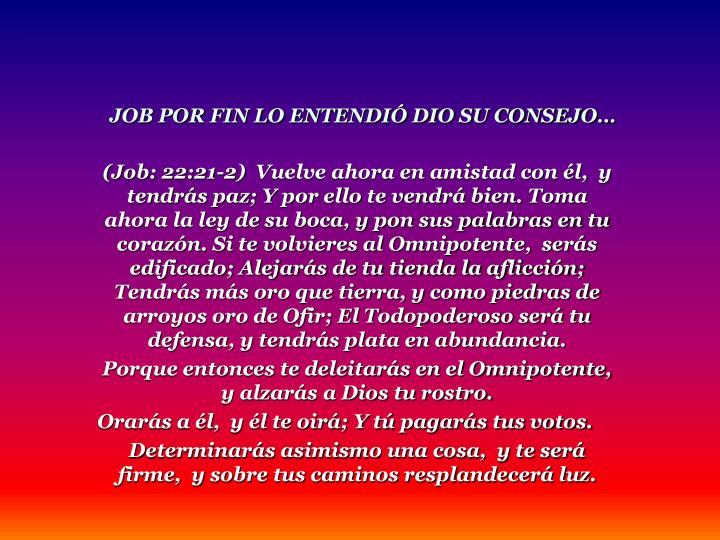 (Job: 22:21-2)