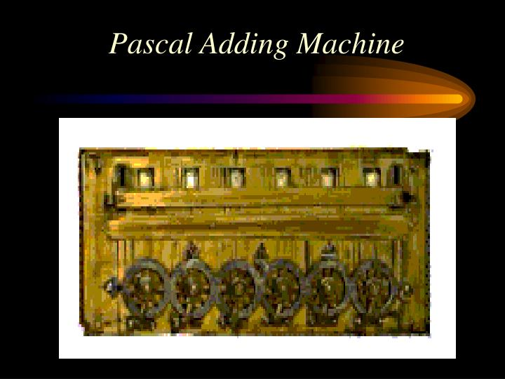 Pascal Adding Machine