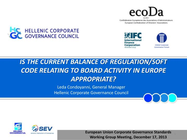 Is the current balance of regulation soft code relating to board activity in europe appropriate
