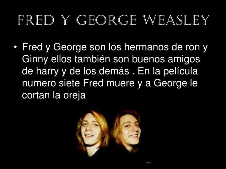 Fred y George weasley