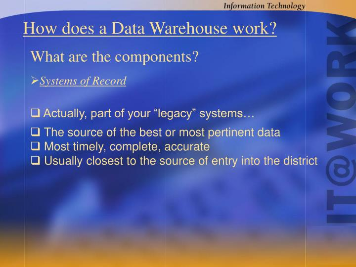 How does a Data Warehouse work?