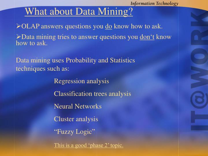 What about Data Mining?
