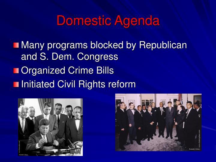 Domestic Agenda