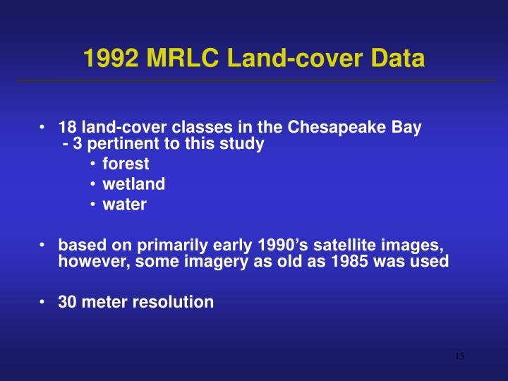 1992 MRLC Land-cover Data