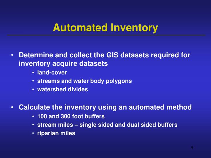 Automated Inventory