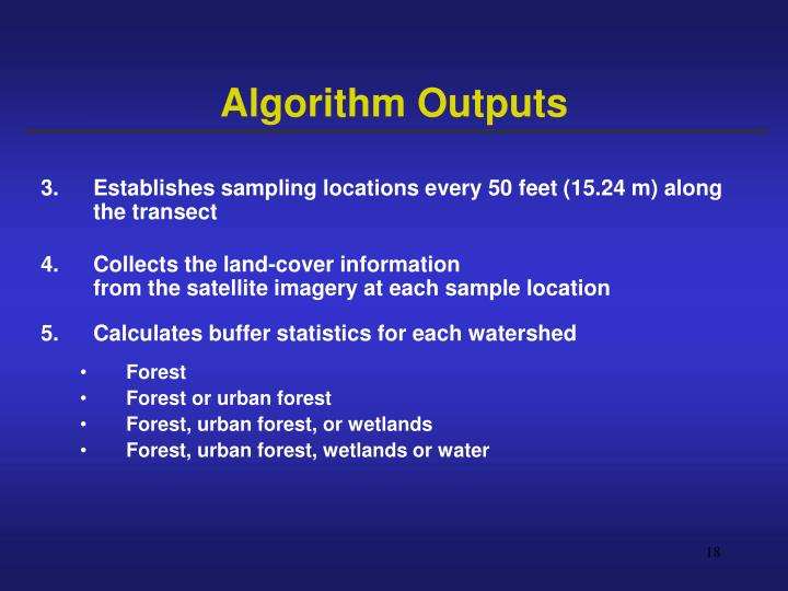 Algorithm Outputs