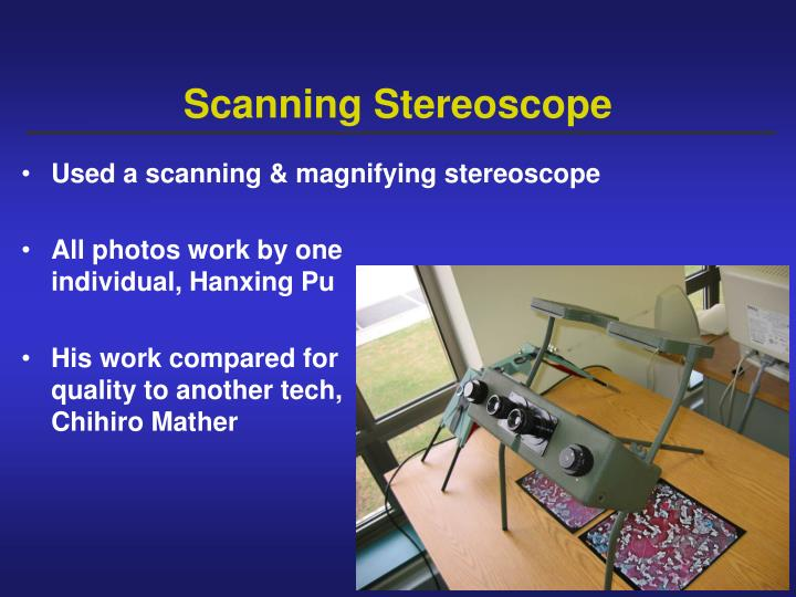 Scanning Stereoscope