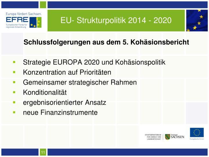 EU- Strukturpolitik 2014 - 2020