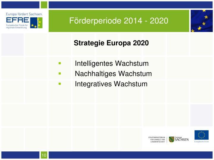 Förderperiode 2014 - 2020