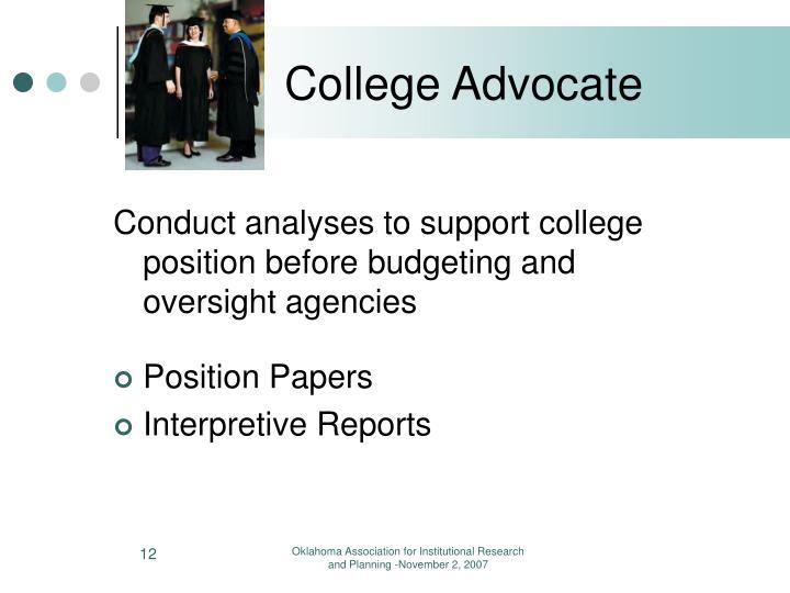 College Advocate