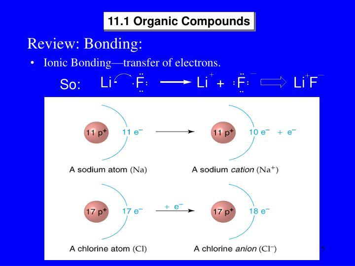 11.1 Organic Compounds