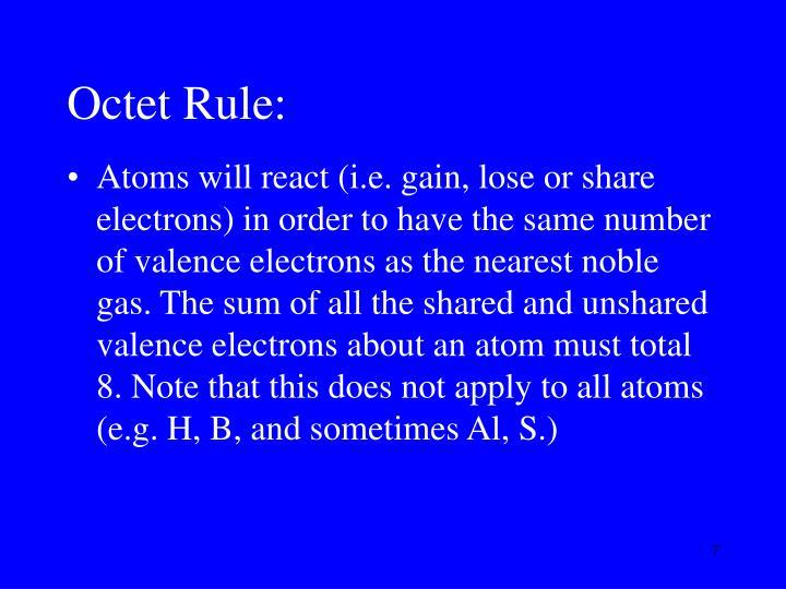Octet Rule: