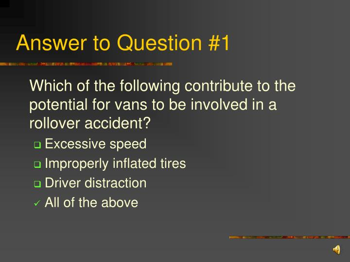 Answer to Question #1