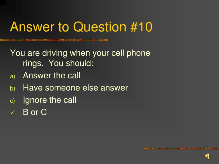 Answer to Question #10