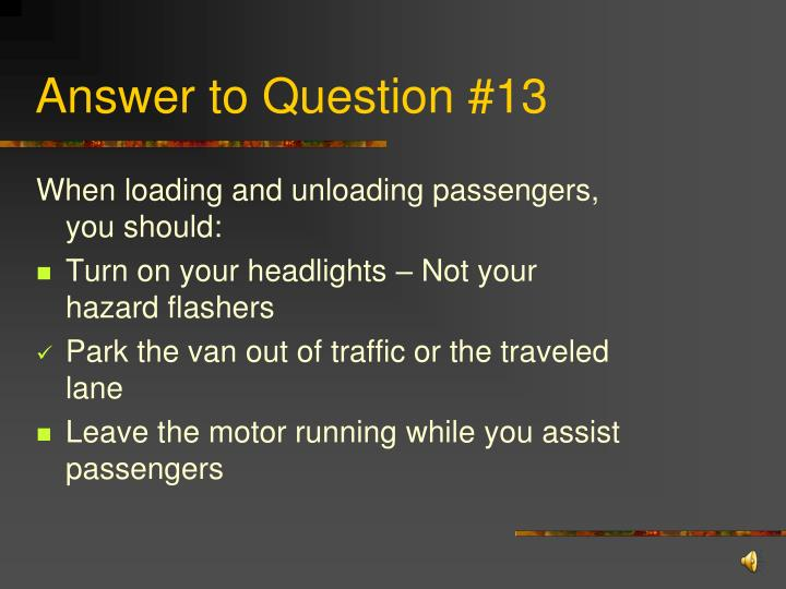 Answer to Question #13