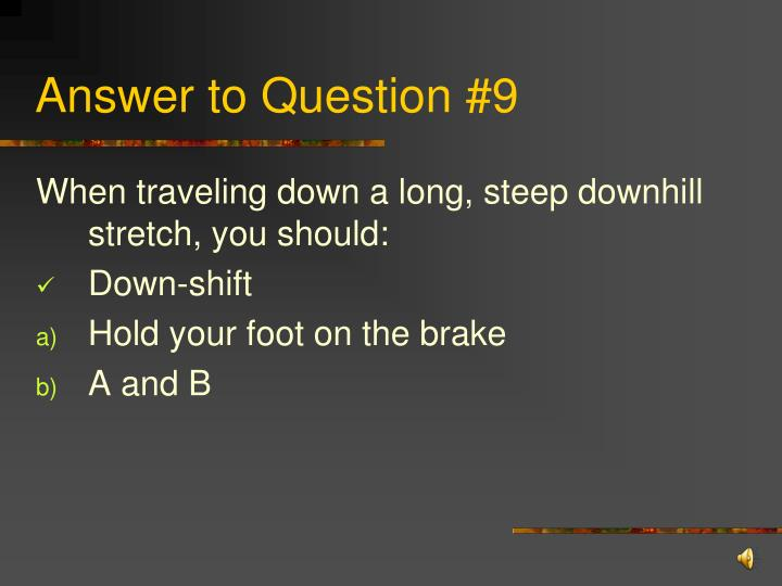 Answer to Question #9