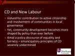 cd and new labour