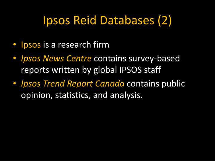 Ipsos Reid Databases (2)