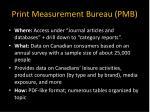 print measurement bureau pmb