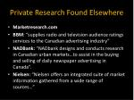 private research found elsewhere