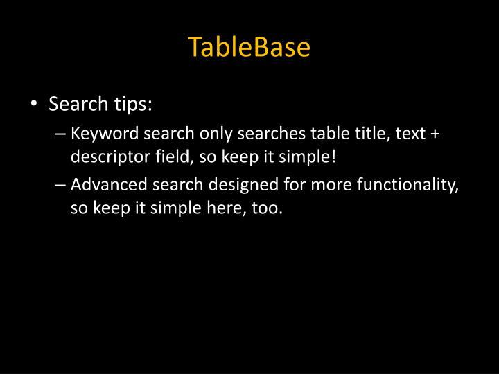 TableBase