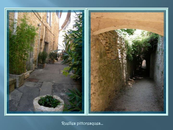 Ruelles pittoresques…