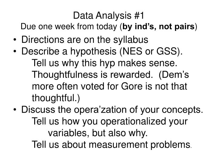 Data Analysis #1
