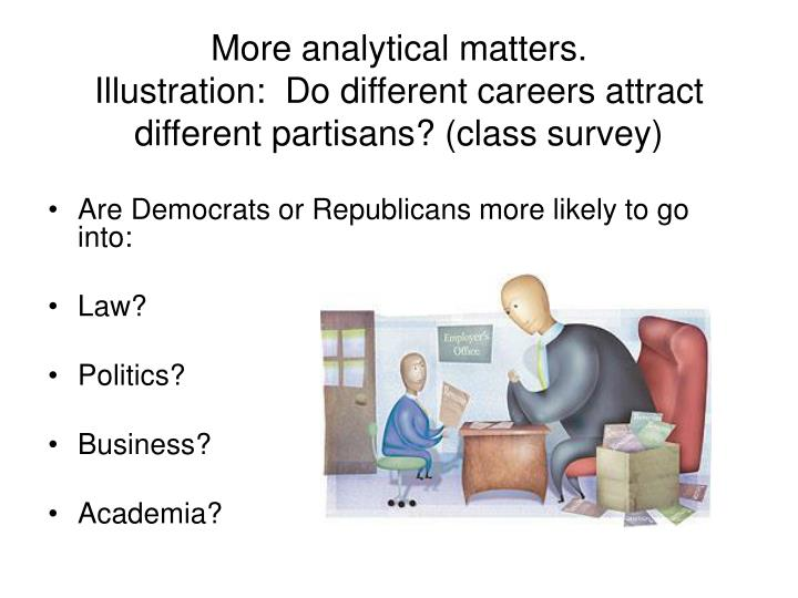 More analytical matters.